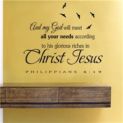 And My God Will Meet All Your Needs According To His