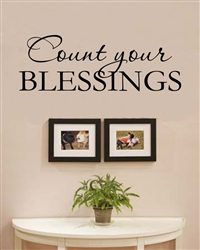 count your blessings vinyl wall art decal sticker With kitchen colors with white cabinets with count your blessings wall art
