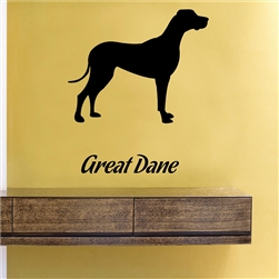 Great Dane Silhouette Vinyl Wall Art Decal Sticker