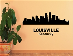 Louisville Kentucky City Skyline Vinyl Wall Art Decal Sticker