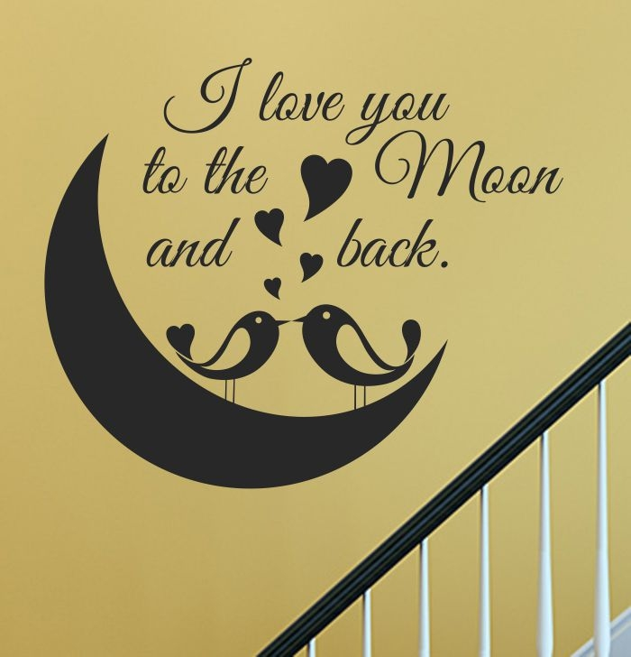 I Love You Quotes: Vinyl Wall Art Decal Sticker, Wall Arts, Wall Graphics