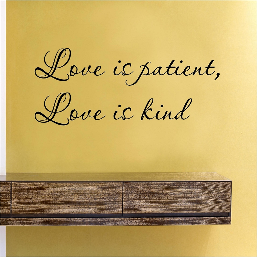sc 1 st  Slap-Art.com & Love is patient Love is kind Vinyl Wall Art Decal Sticker