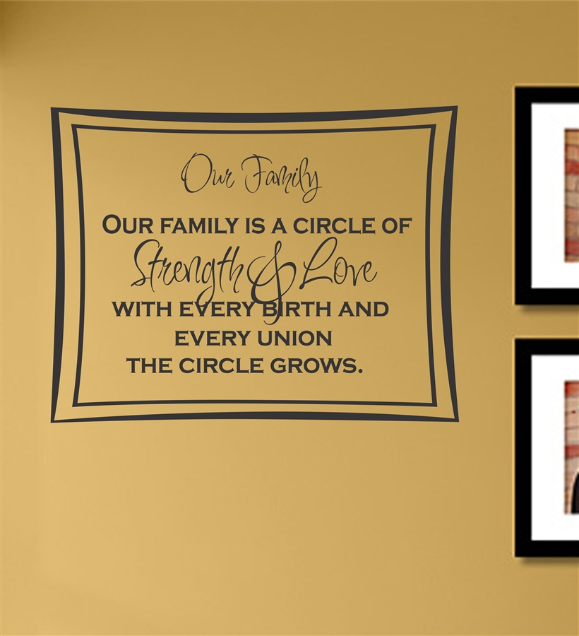 Family Is A Circle Of Strength & Love WIth Every Birth And Every ...